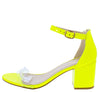Highlight74 Neon Yellow Women's Heel - Wholesale Fashion Shoes