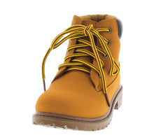 HIKE01K HONEY WHEAT KIDS UTILITY ANKLE BOOT - Wholesale Fashion Shoes