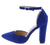Lindsay141 Royal Blue Suede Women's Heel