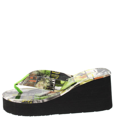 Holly Green Magazine Wedge - Wholesale Fashion Shoes