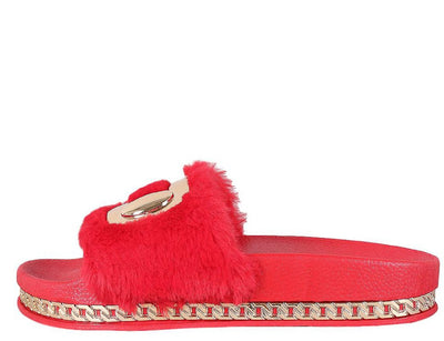 Hollywood01s Red Women's Sandal - Wholesale Fashion Shoes