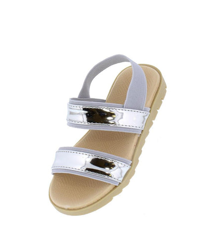 Holy25k Silver Mirror Open Toe Slingback Kids Sandal - Wholesale Fashion Shoes
