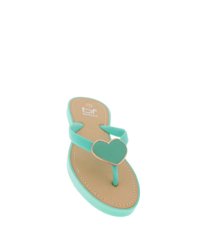 Honey1 Mint Heart Accent Sandal - Wholesale Fashion Shoes