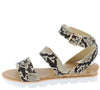 Hotspot04 Beige Snake Women's Sandal - Wholesale Fashion Shoes