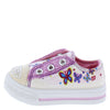 Icon White Sparkle Toe Grommet Butterfly Infant Kids Sandal - Wholesale Fashion Shoes