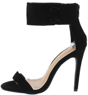 6db0847f219ef Ilsa3 Black Open Toe Button Ankle Band Stiletto Heel - Wholesale Fashion  Shoes