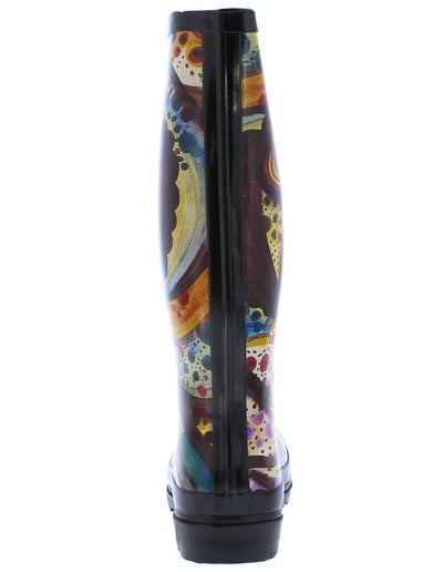 Monet Print Lug Sole Rain Boot - Wholesale Fashion Shoes