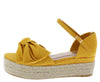 Infinity32 Marigold Knotted Open Toe Ankle Strap Wedge - Wholesale Fashion Shoes