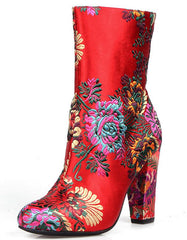 IRENE01 RED WOMEN'S BOOT - Wholesale Fashion Shoes