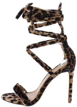 9207c139c58d Maya188 Leopard Open Toe Strappy Ankle Wrap Stiletto Heel - Wholesale  Fashion Shoes