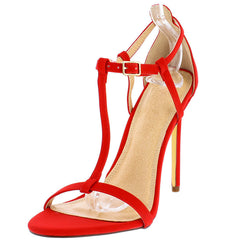 NATALIA3 RED WOMEN'S HEEL - Wholesale Fashion Shoes