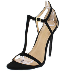 NATALIA3  BLACK WOMEN'S HEEL - Wholesale Fashion Shoes