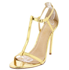 NATALIA3 MIRROR GOLD WOMEN'S HEEL - Wholesale Fashion Shoes