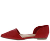 Judith040 Red Pointed Toe Dorsay Ballet Flat - Wholesale Fashion Shoes