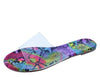 Deanna163 New Multi Snake Lucite Open Toe Flat Slide Sandal - Wholesale Fashion Shoes
