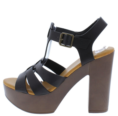 Juliana25 Black Women's Heel - Wholesale Fashion Shoes