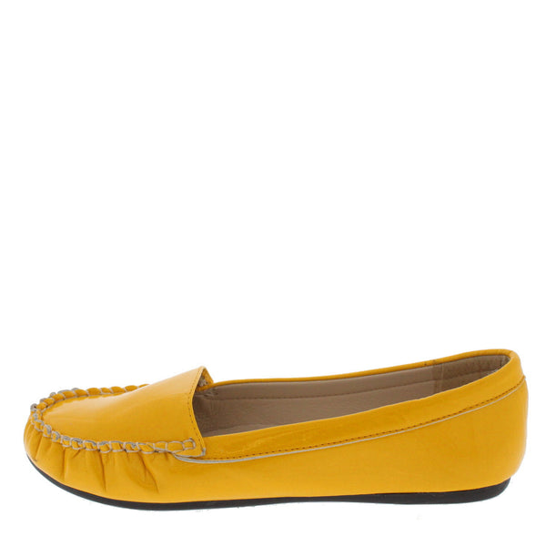 5dee2f925eb Juliet Yellow Flat Shoes
