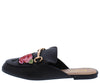 Jackpot19m Black Embroidered Horse Bit Mule Loafer Flat - Wholesale Fashion Shoes