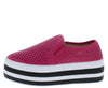 Jaimie09 Fuchsia Women's Flat - Wholesale Fashion Shoes