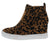 Jaira2 Tiger Leopard Wedge Sneaker Ankle Boot