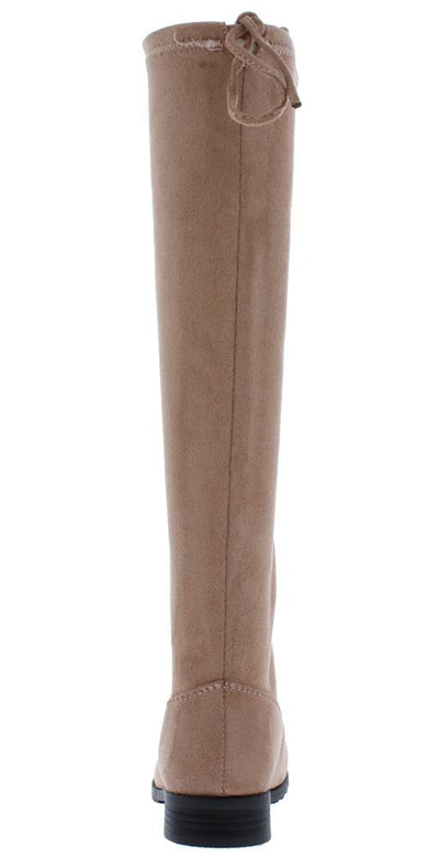 Jalenh4k Dusty Pink Back Tie Knee High Kids Boot - Wholesale Fashion Shoes