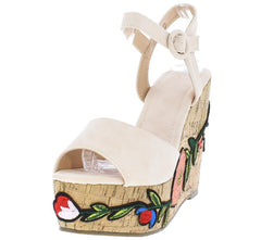 LALA139 NUDE WOMEN'S WEDGE - Wholesale Fashion Shoes