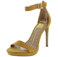 Janet01 Mustard Woman's Heel - Wholesale Fashion Shoes