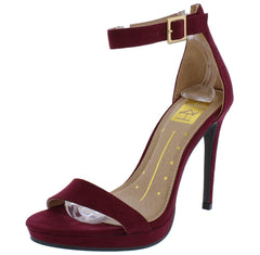 Janet01 Wine Woman's Heel - Wholesale Fashion Shoes
