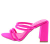 Janet01 Neon Pink Women's Heel - Wholesale Fashion Shoes