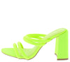Janet01 Neon Yellow Women's Heel - Wholesale Fashion Shoes