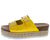 Jans20 Yellow Dual Buckle Strap Platform Mule Slide Wedge