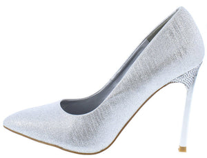 973eef71ee47bd Jasmin2 Silver Shimmer Pointed Toe Metallic Stiletto Heel - Wholesale  Fashion Shoes