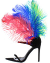 Jazmine Multi Open Toe Tie Front Feather Back Heel - Wholesale Fashion Shoes