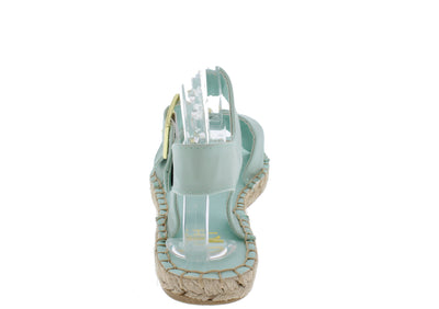Jeana03 Mint Buckled Espadrille Flat - Wholesale Fashion Shoes