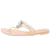 Frida102 Nude Sparkle Jewel Ope Toe Thong Jelly Sandal