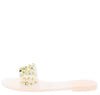 Ernestine173 Nude Studded Lucite Open Toe Slide Sandal - Wholesale Fashion Shoes