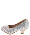 Jemma32k Champagne Sparkle Almond Toe Kids Low Heel - Wholesale Fashion Shoes