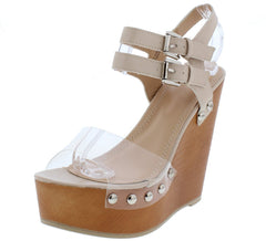 NORA210 NUDE WOMEN'S WEDGE - Wholesale Fashion Shoes