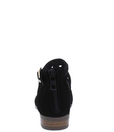 Jerry82k Black Caged Peep Toe Kids Low Heel - Wholesale Fashion Shoes