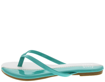 Jesse Mint Color Block Flat Sandal - Wholesale Fashion Shoes
