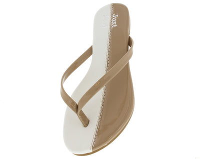 Jesse Nude Color Block Flat Sandal - Wholesale Fashion Shoes