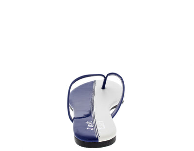 Jesse Royal Blue Color Block Flat Sandal - Wholesale Fashion Shoes