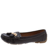 Jimmi32 Brown Top Stitch Dual Tassel Slide On Loafer Flat - Wholesale Fashion Shoes