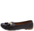 Jimmi32 Brown Top Stitch Dual Tassel Slide On Loafer Flat