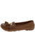 Jimmi32 Tan Top Stitch Dual Tassel Slide On Loafer Flat