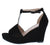 Joy45 Black Women's Wedge
