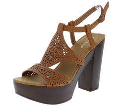 Juliana18s Tan Pu Woman's Heel