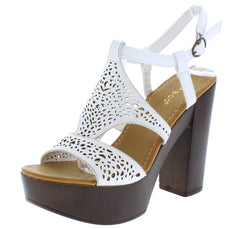 Juliana18s White Pu Woman's Heel