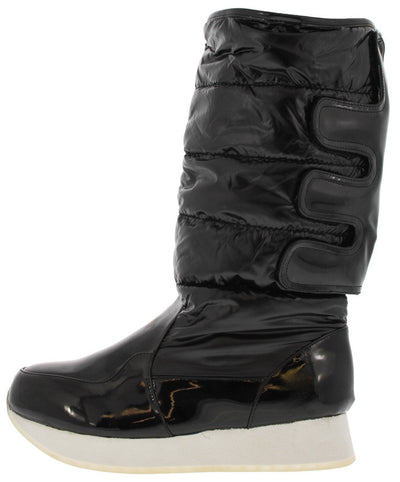 Jupiter1 Black Quilted Snow Boot - Wholesale Fashion Shoes