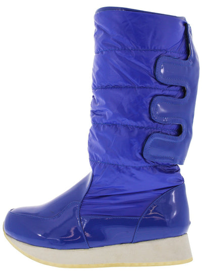 Jupiter1 Blue Quilted Snow Boot - Wholesale Fashion Shoes